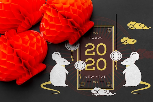 Modelo de feliz ano novo chinês feliz Psd grátis