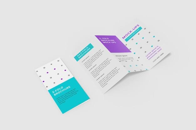 Modelo de folheto com dobra em z a4 Psd Premium