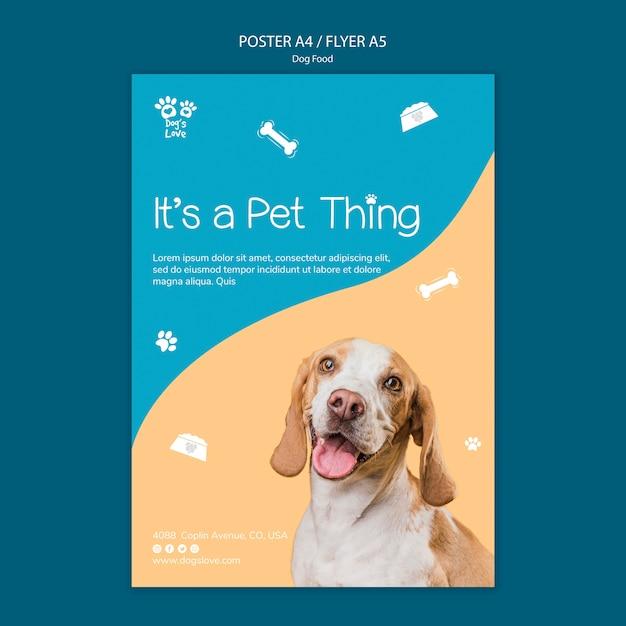 Modelo de folheto com tema de comida de cachorro Psd grátis