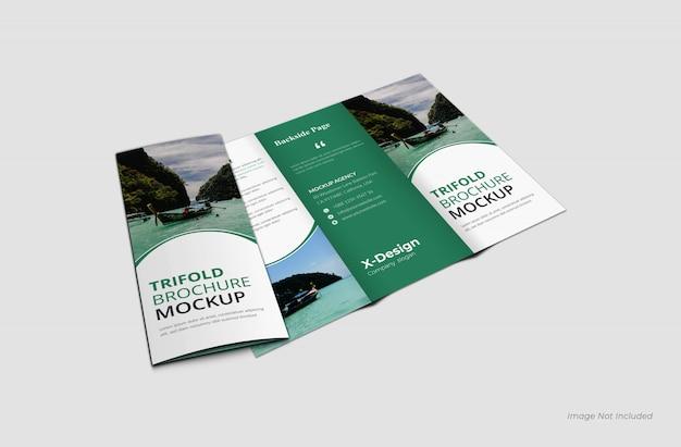Modelo de folheto com três dobras Psd Premium