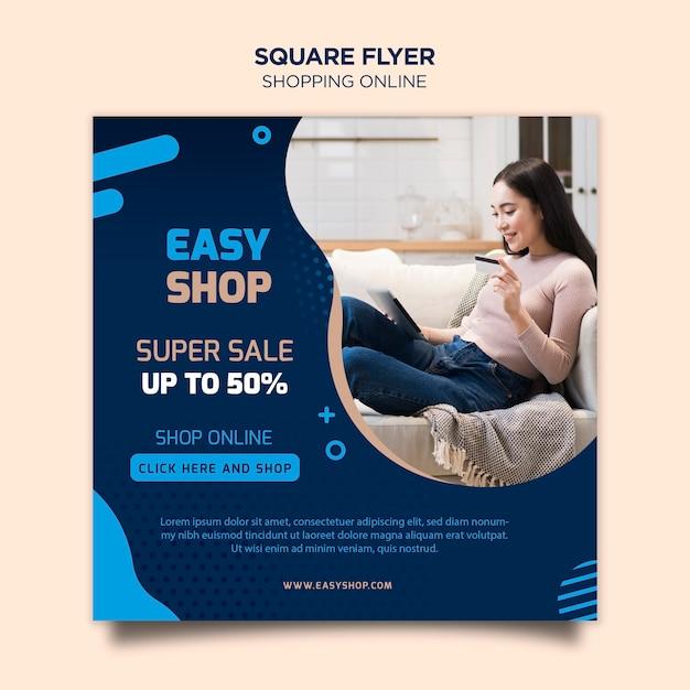 Modelo de folheto - compras online Psd Premium