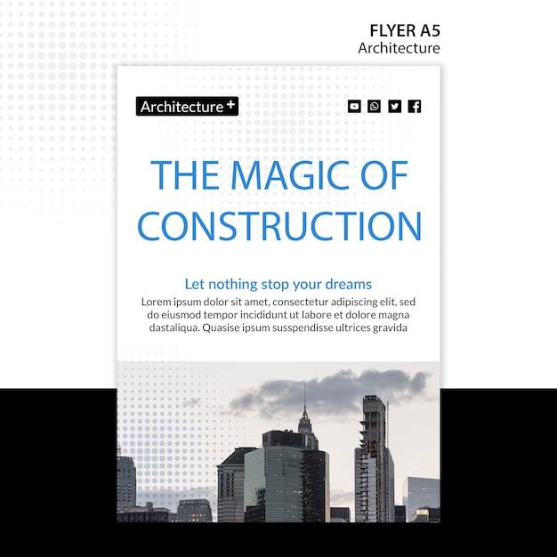 Modelo de folheto - conceito de arquitetura Psd Premium