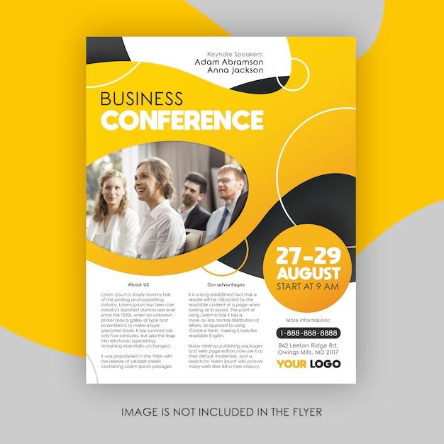 Modelo de folheto - conferência de negócios modernos Psd Premium