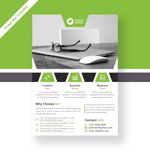 Modelo de folheto corporativo moderno Psd Premium