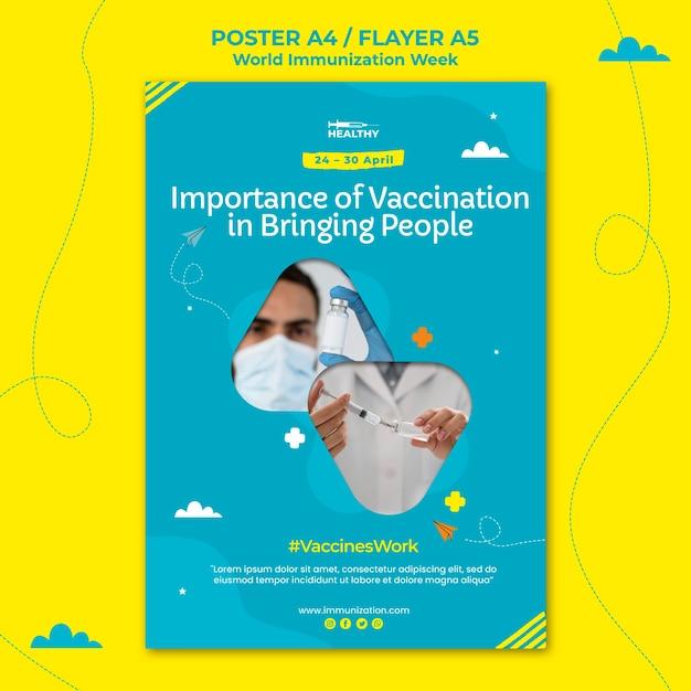 Modelo de folheto da semana mundial de imunização Psd grátis