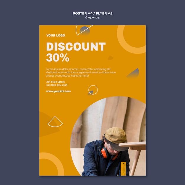 Modelo de folheto de anúncio carpenter Psd grátis