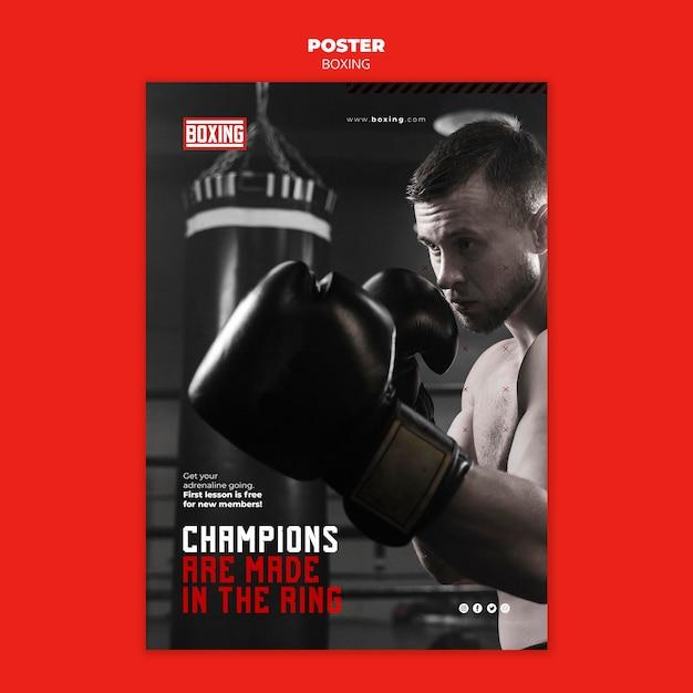 Modelo de folheto de anúncio de boxe Psd grátis