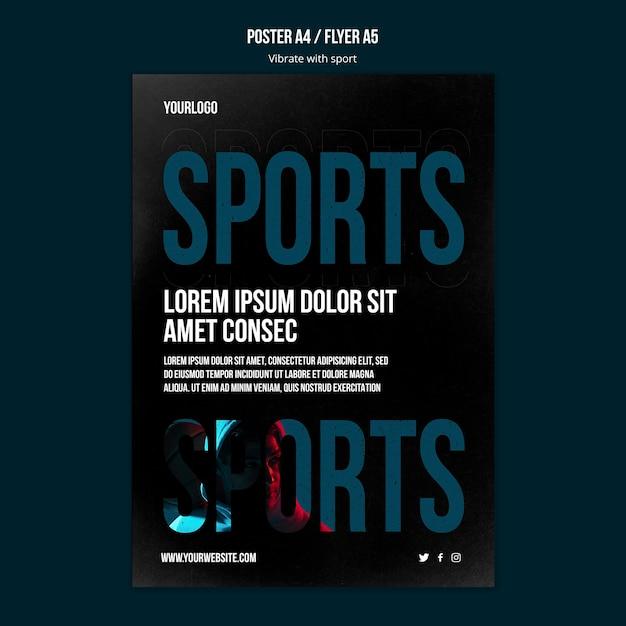Modelo de folheto de anúncio de esporte Psd grátis