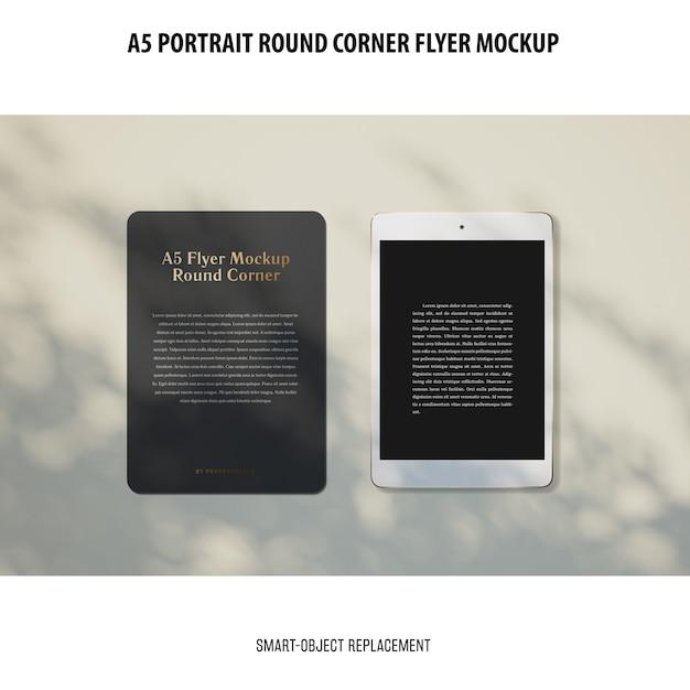 Modelo de folheto de canto redondo a5 Psd grátis