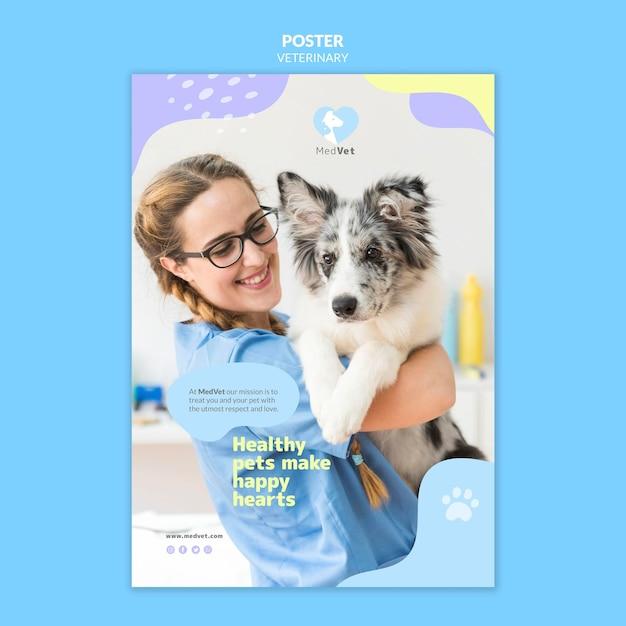 Modelo de folheto de clínica veterinária Psd grátis
