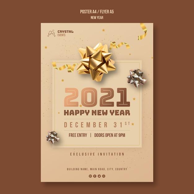 Modelo de folheto de conceito de ano novo Psd grátis