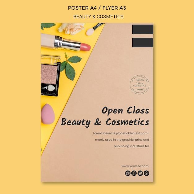 Modelo de folheto de conceito de beleza e cosméticos Psd grátis