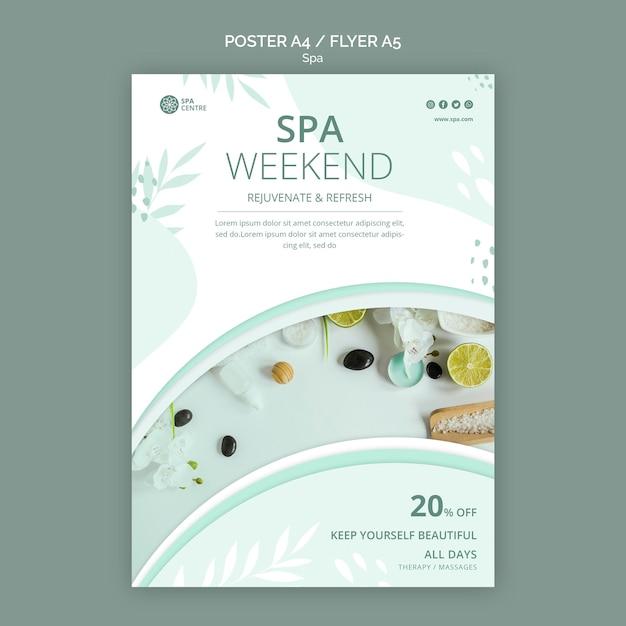 Modelo de folheto de conceito de spa Psd grátis