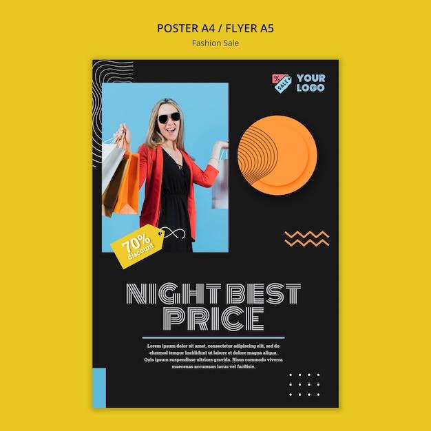 Modelo de folheto de conceito de venda de moda Psd grátis