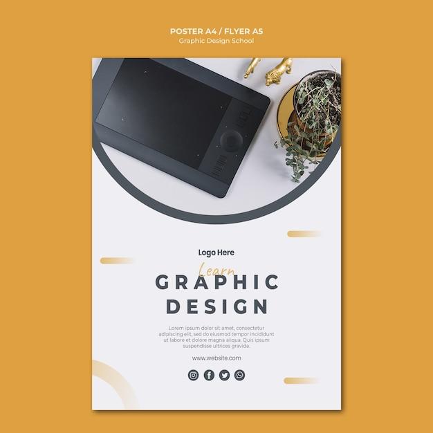 Modelo de folheto de design gráfico Psd grátis