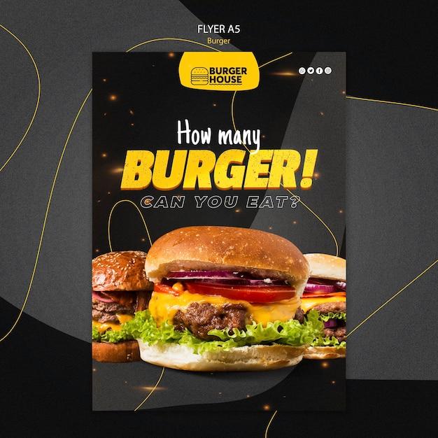 Modelo de folheto de hambúrguer Psd grátis