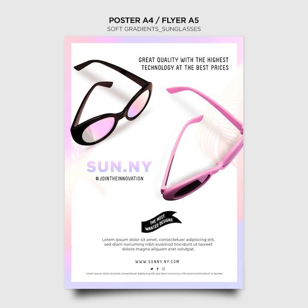 Modelo de folheto de loja de óculos de sol Psd grátis