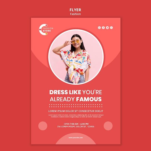 Modelo de folheto de moda com foto de mulher Psd grátis