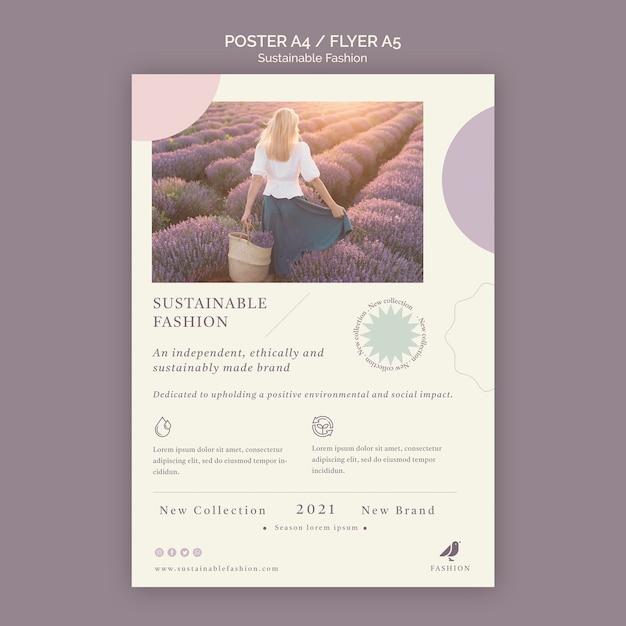 Modelo de folheto de moda sustentável Psd grátis