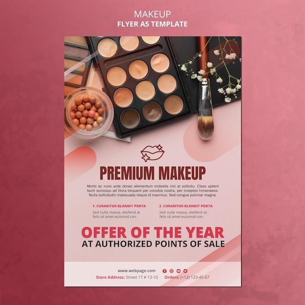 Modelo de folheto de oferta de maquiagem Psd grátis