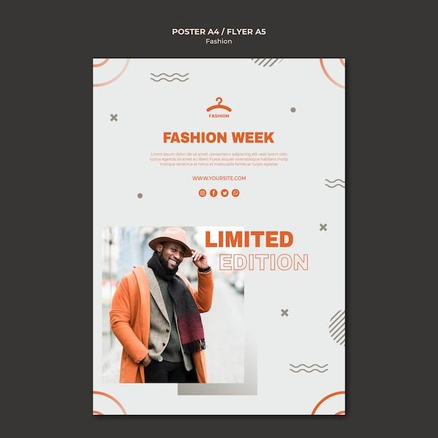 Modelo de folheto de oferta limitada da semana da moda Psd Premium
