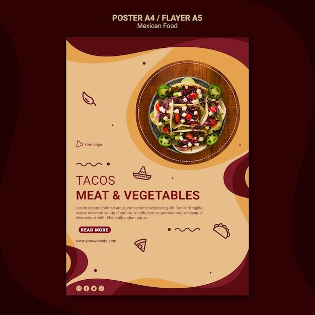 Modelo de folheto de restaurante mexicano Psd Premium