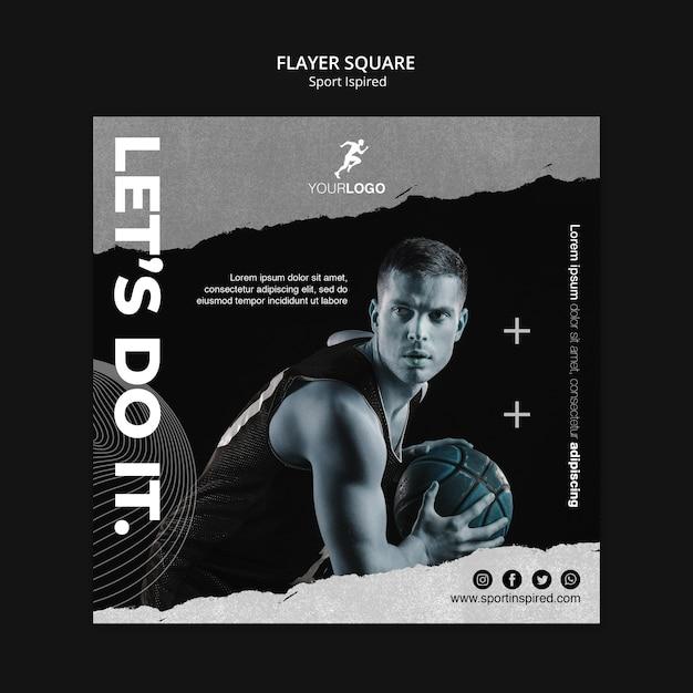 Modelo de folheto de treinamento de basquete Psd grátis