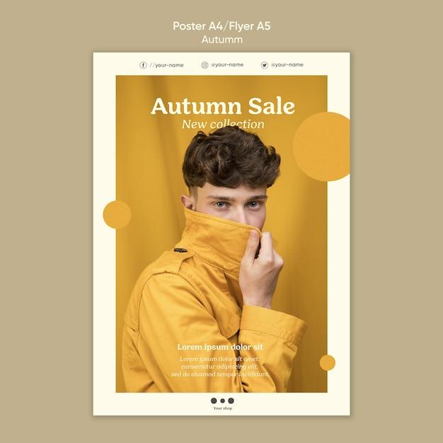 Modelo de folheto de venda de outono Psd grátis