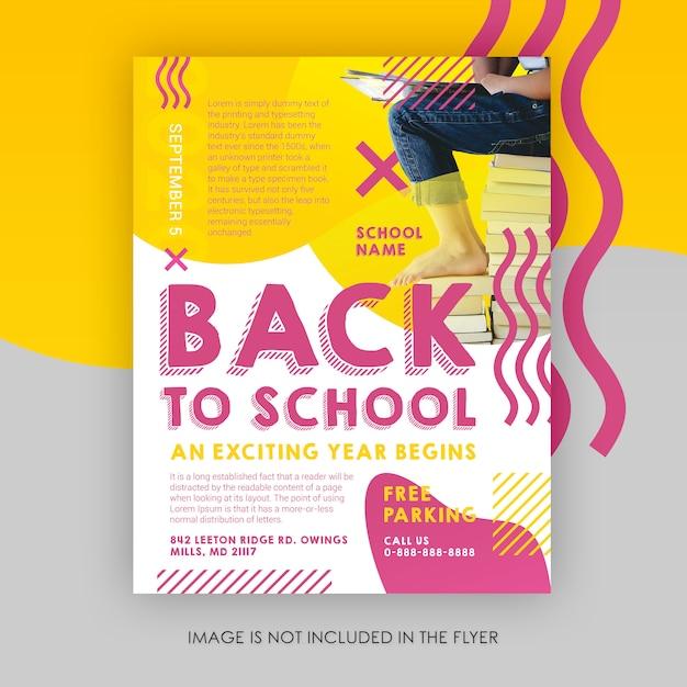 Modelo de folheto - de volta à escola Psd Premium