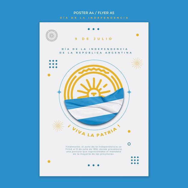 Modelo de folheto - dia da independência da argentina Psd grátis