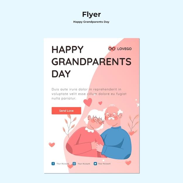 Modelo de folheto - dia dos avós feliz Psd grátis