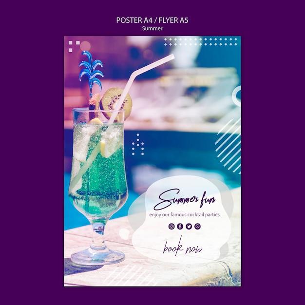 Modelo de folheto divertido verão com foto Psd grátis