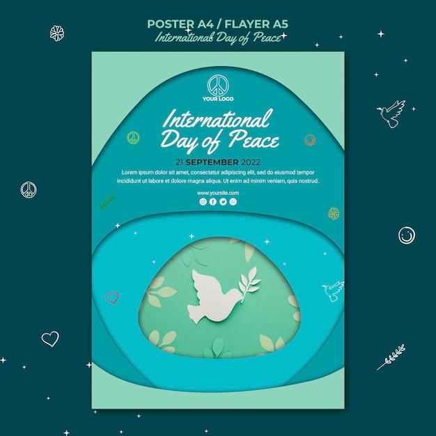 Modelo de folheto do dia internacional da paz Psd grátis