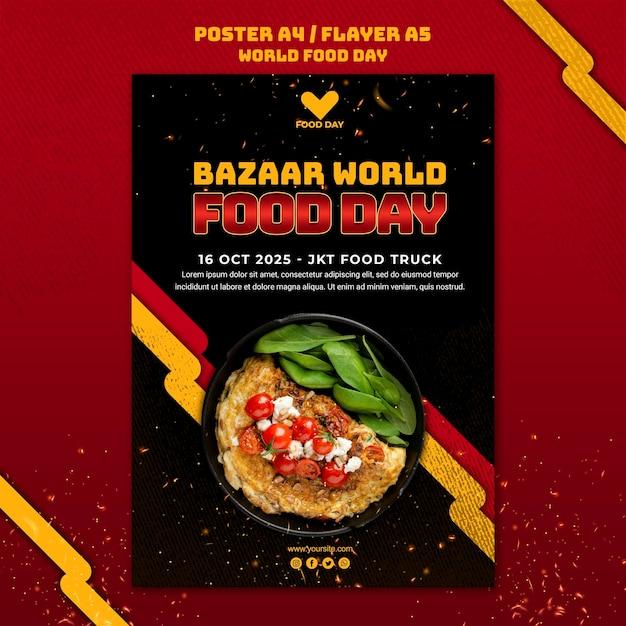 Modelo de folheto do dia mundial da alimentação Psd grátis