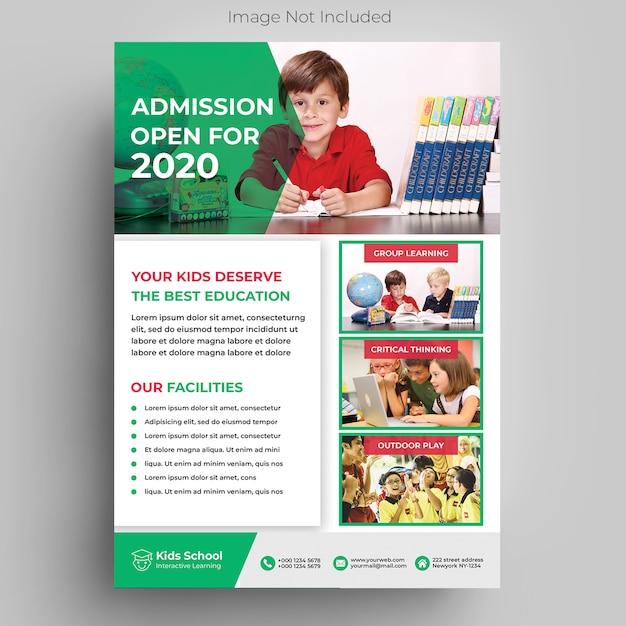 Modelo de folheto - educação infantil Psd Premium