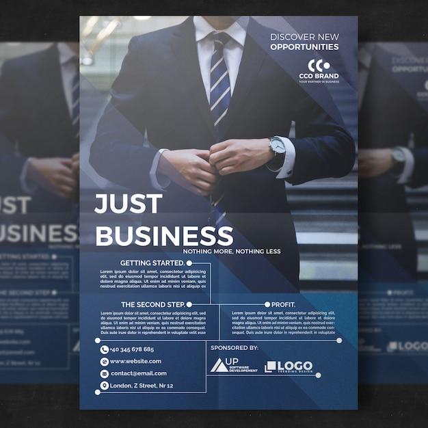 Modelo de folheto empresarial elegante Psd Premium