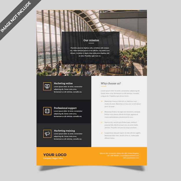 Modelo de folheto empresarial moderno Psd Premium