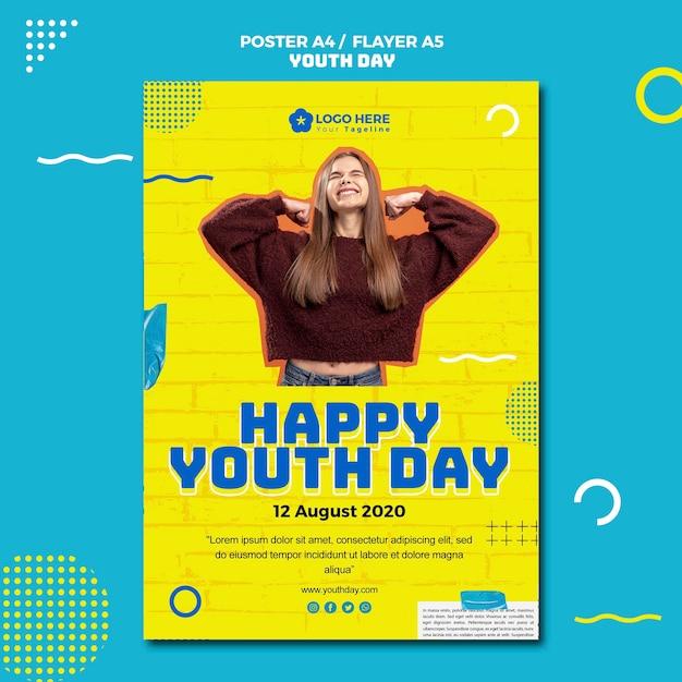 Modelo de folheto - evento do dia da juventude Psd grátis
