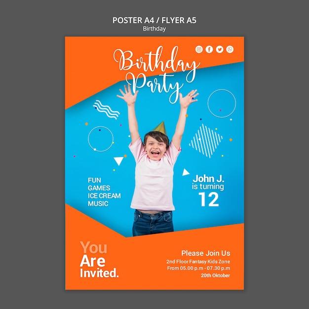 Modelo de folheto - festa de aniversário Psd grátis
