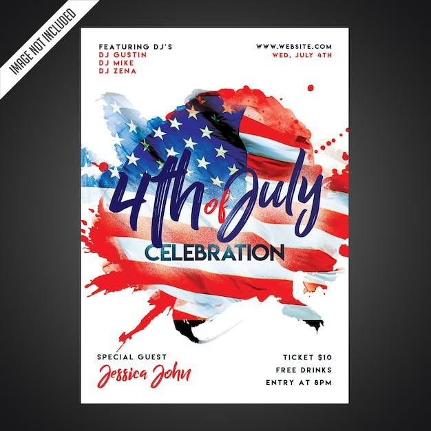 Modelo de folheto - festa do dia da independência criativa Psd Premium