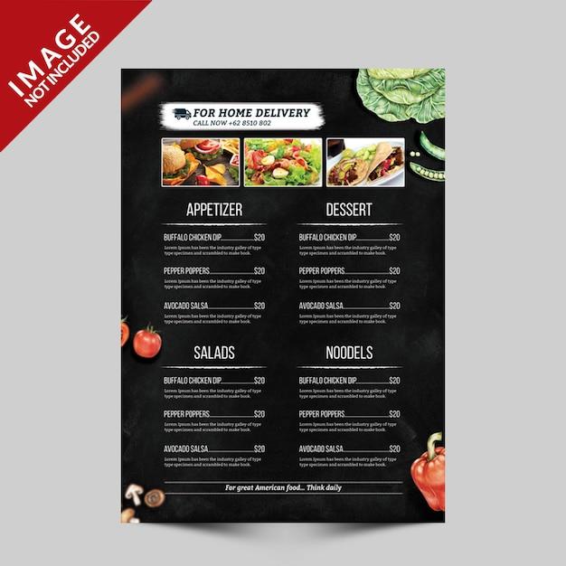 Modelo de folheto - menu alimentar Psd Premium
