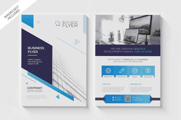 Modelo de folheto moderno limpo a4 Psd Premium