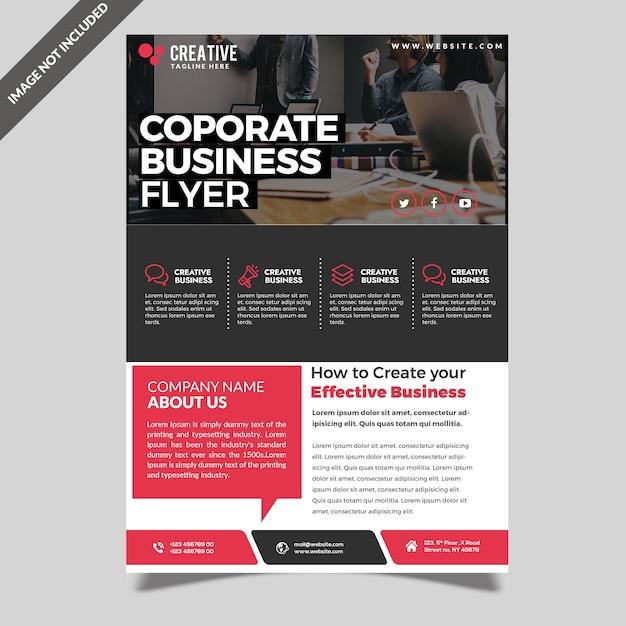 Modelo de folheto - moderno profissional corporativo Psd Premium
