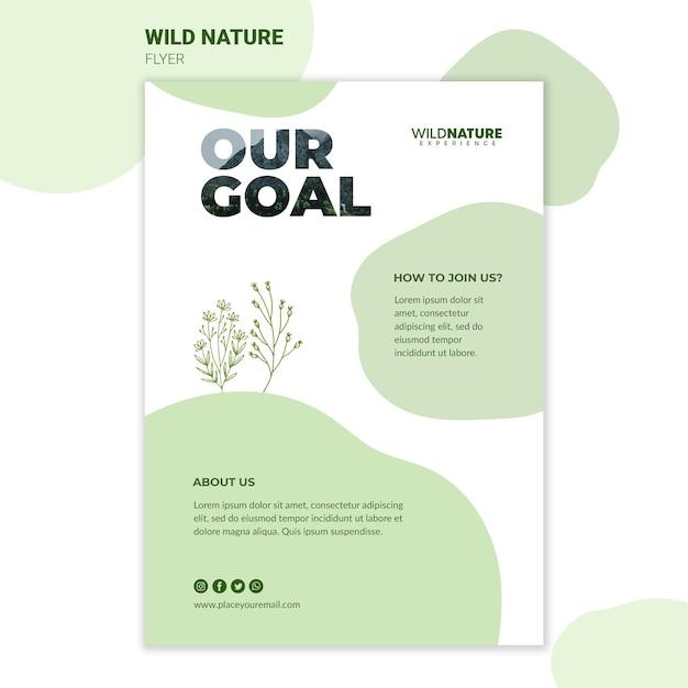 Modelo de folheto - natureza selvagem objetivo Psd grátis