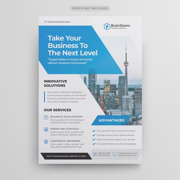 Modelo de folheto - negócio corporativo Psd Premium
