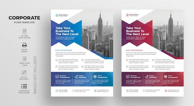 Modelo de folheto - negócios corporativos Psd Premium
