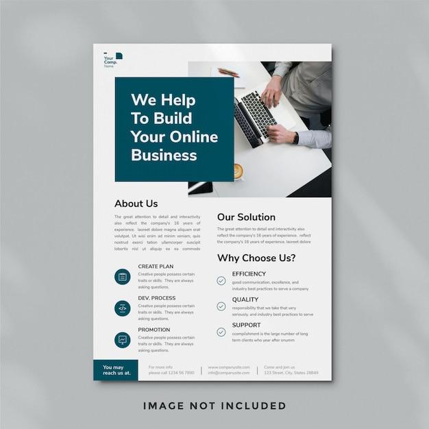 Modelo de folheto - negócios Psd Premium