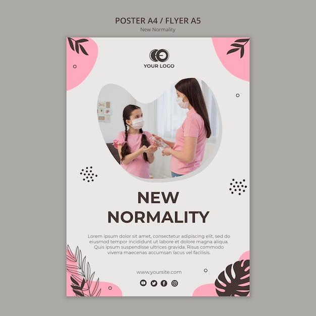 Modelo de folheto - nova normalidade Psd grátis