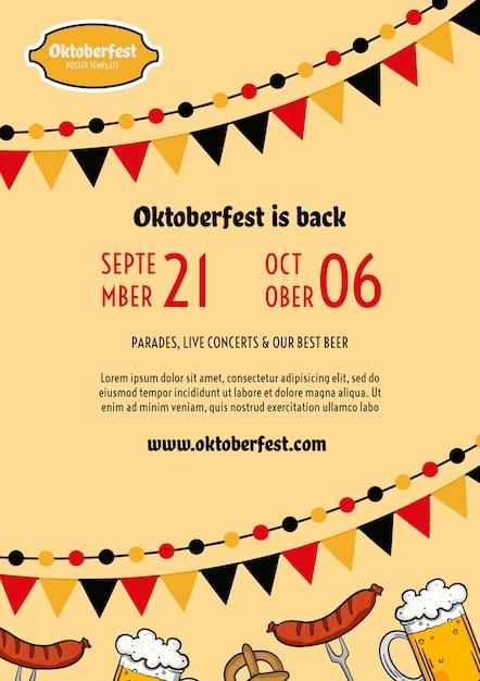 Modelo de folheto oktoberfest Psd grátis