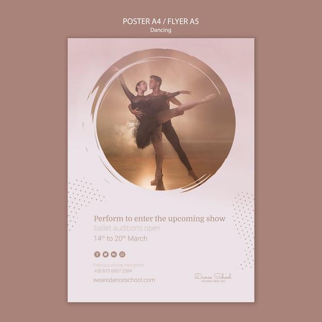 Modelo de folheto para artistas de dança Psd grátis